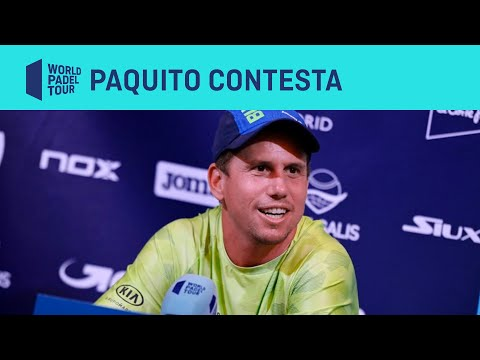 Rueda de Prensa Paquito Navarro - Estrella Damm Open - World Padel Tour