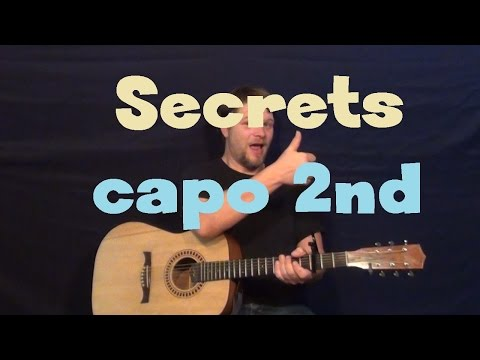 Secrets (OneRepublic) Easy Guitar Lesson How to Play Tutorial