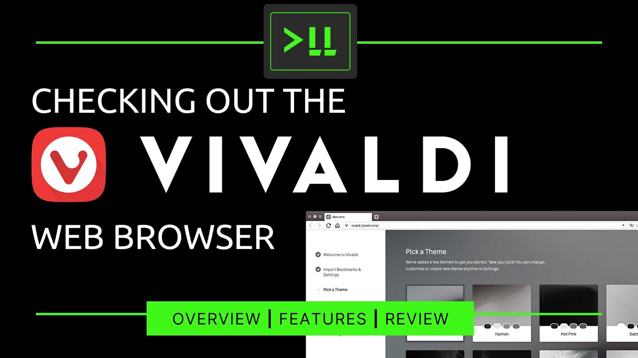 Checking out the Vivaldi Web Browser