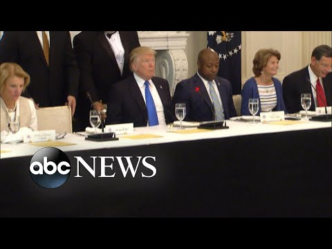 President turns the heat up on Senate Republicans at White House luncheon