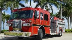 Melbourne, FL- Melbourne Fire Department's Sutphen Custom Pumper - HS-6195 Aerial Walk Around