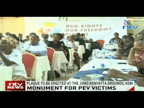 Plaque to be erected in honour of PEV victims at the Jomo Kenyatta grounds, Kisumu