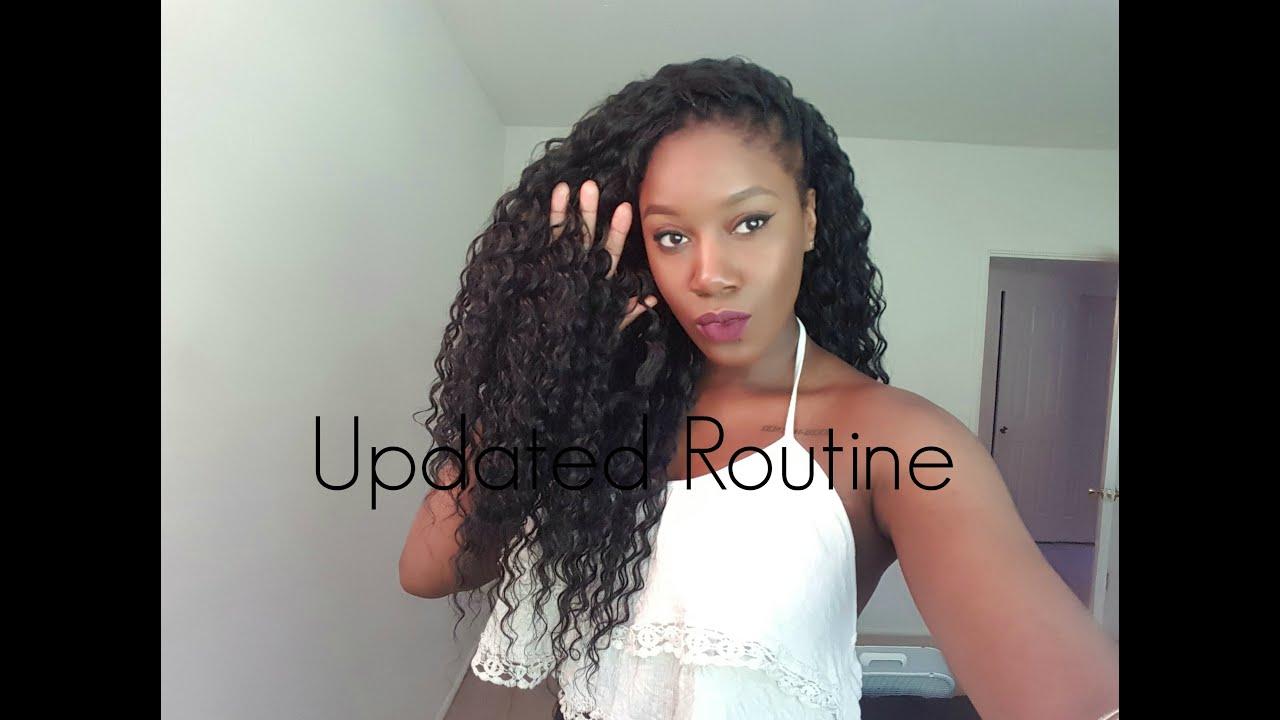 Updated Crochet Braid Routine For Deep Twist Hair YouTube