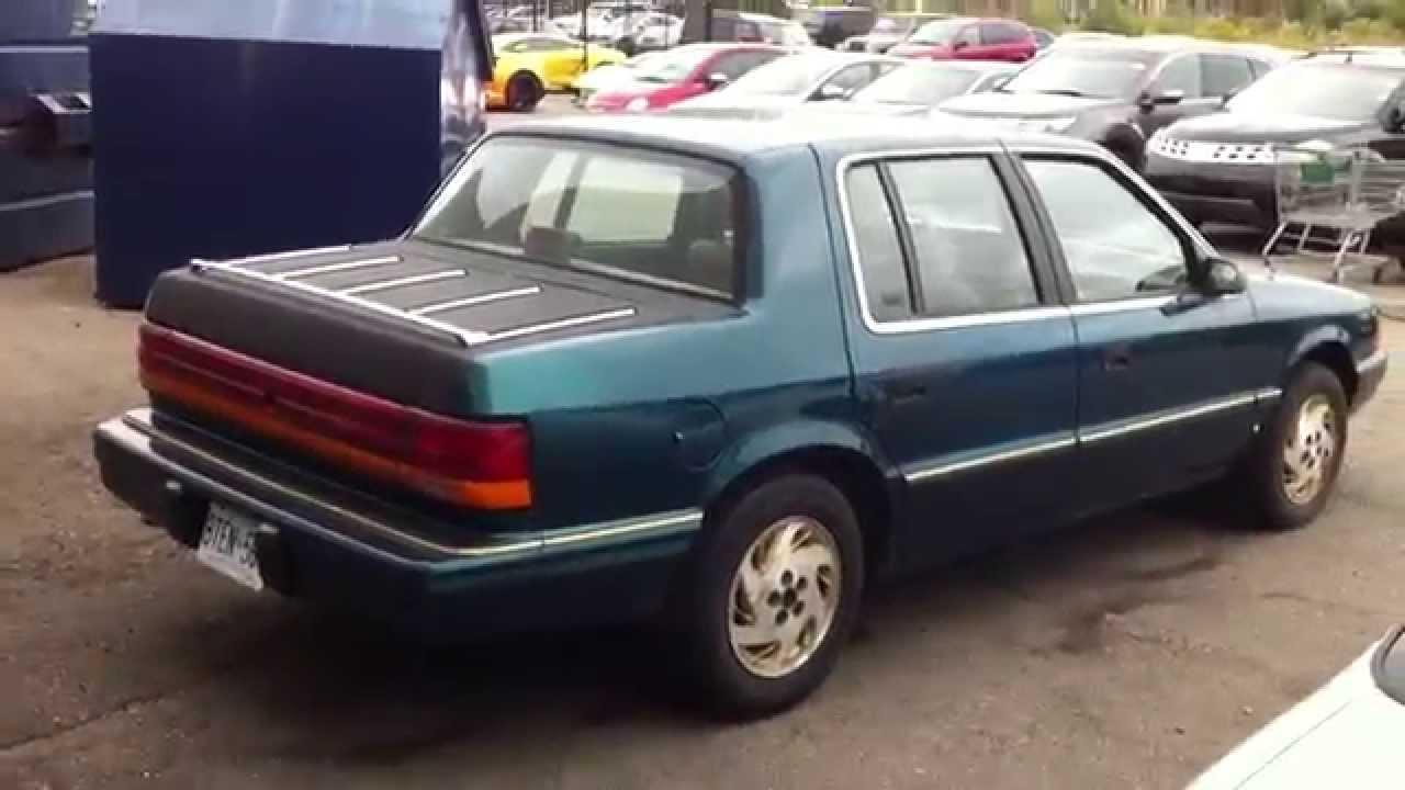 1995 Dodge Spirit Startup Engine & In Depth Tour - YouTube