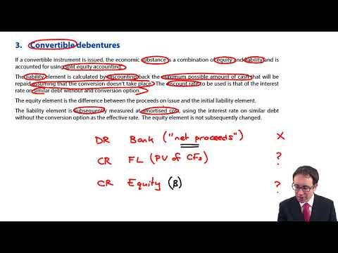 Financial instruments - convertible debentures - ACCA Financial Reporting (FR)