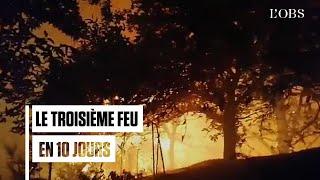 Un nouveau feu gigantesque ravage Grande Canarie
