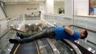 Escalator Spinning Trick Tokyo 東京 Mall Japan 日本 3am