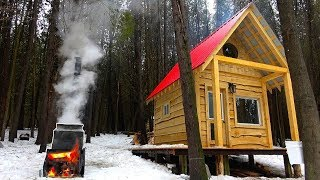 MAPLE SYRUP at the SUGAR SHACK in the Woods! | Home Made Evaporator Built from Scrap Metal Ep7