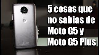 5 Cosas Que No Sabias Del Moto G5 y G5 Plus.
