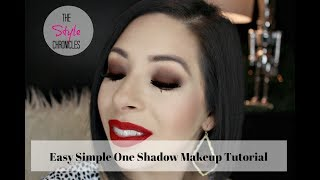 Easy Simple One Shadow Makeup Tutorial