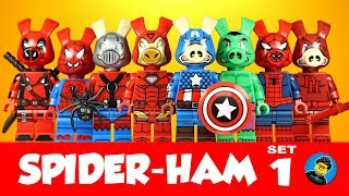 NEW MINIFIGURES lego MOC Super Heroes Action Venom Ham Green Iron Spider-Ham Bri