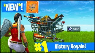 "*NEW* DRIVABLE ""SHOPPING CARTS"" in Fortnite Battle Royale! (*NEW* ""Shopping Cart"" Gameplay UPDATE!)"