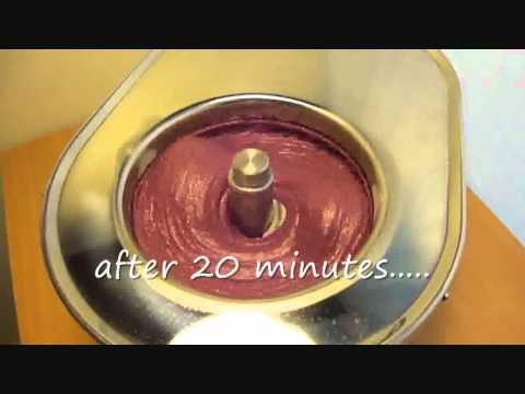 Blueberry Ice Cream with Musso 4080 Lussino  icecream maker + Recipe