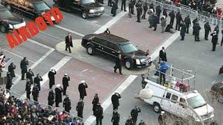 Obama Inauguration Motorcade at 7th and Pennsylvania