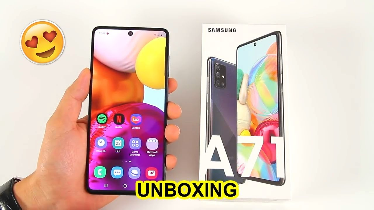Samsung GALAXY A71 Unboxing & First look