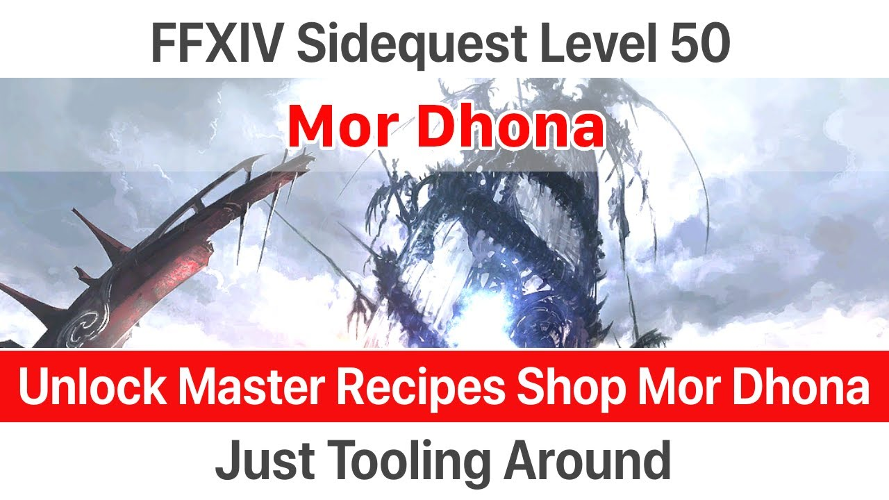 ✅ FFXIV Unlock specific gatherer's and crafter's tools - Just Tooling  Around - A Realm Reborn