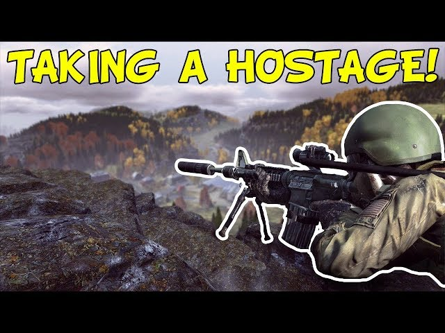 TAKING THE AIRFIELD SNIPER HOSTAGE!   DAYZ AWM GAMEPLAY