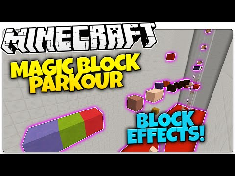 Minecraft | Magic Block Parkour | Blocks with Magic Effects! (Minecraft Parkour)