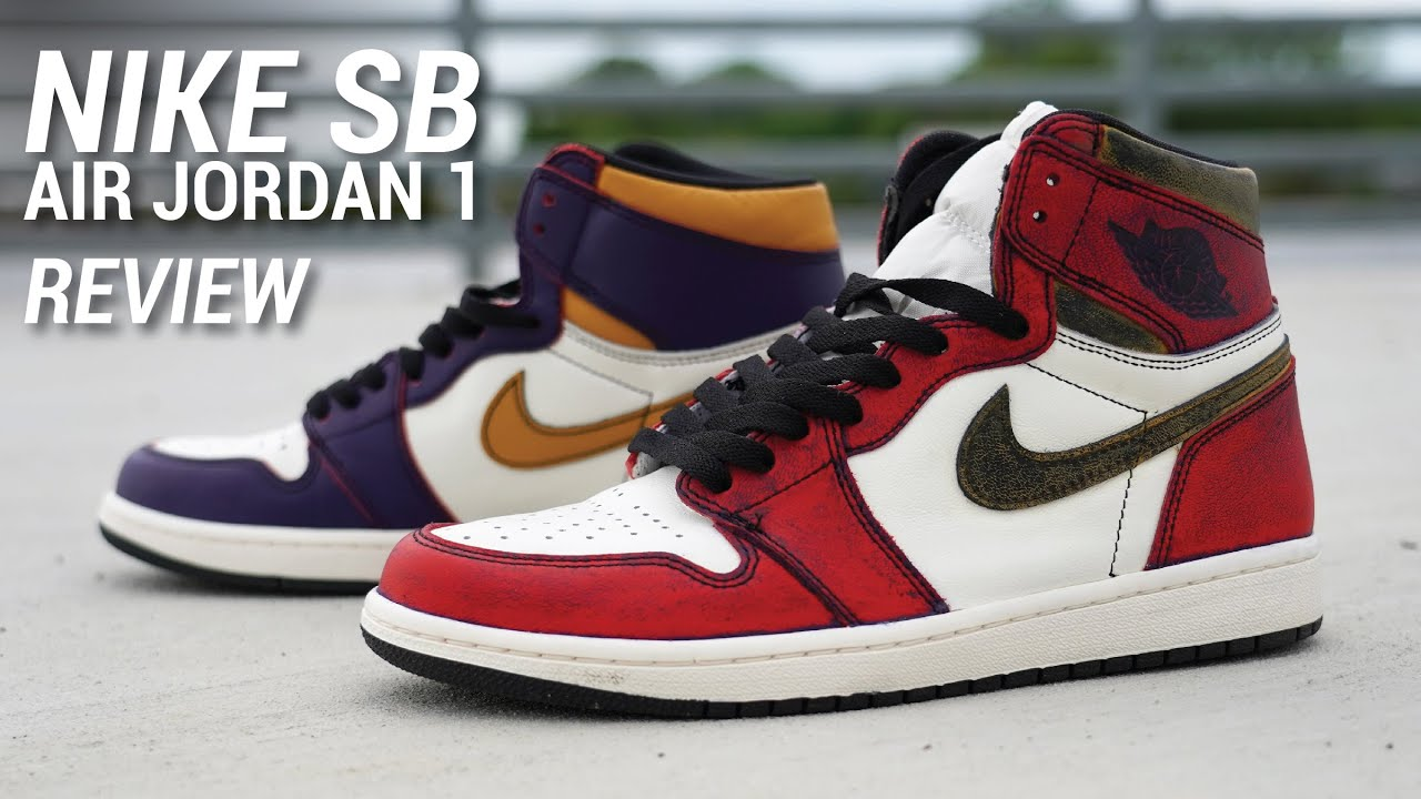 new york get online fresh styles NIKE SB Air Jordan 1 Lakers Review & Wiping OFF Paint!