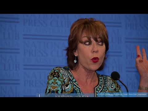 Kathy Lette Talking About Women in Print Media at Canberra Writers Festival Event at the NPC