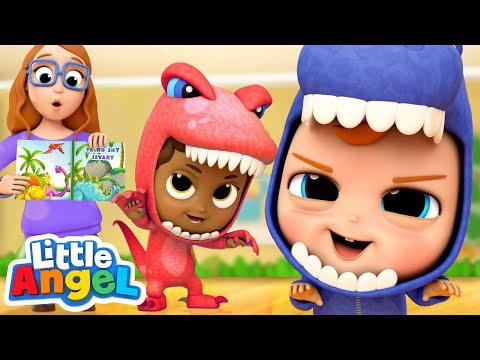We Are Little Dinosaurs!   A Dinosaur Song   Little Angel Kids Songs - Видео онлайн