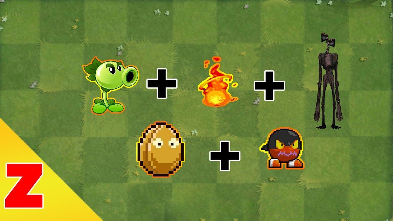 Plants vs Zombies Fusion Hack Animation  Episode 12 - Peashooter + Siren Head + FireWallnut + Bom