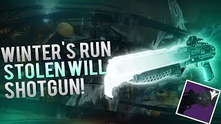 Destiny -STOLEN WILL BEST PERKS! Weekly Nightfall Loot X3! Winter's Run Strike Exclusive Shotgun!