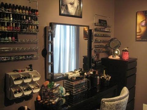 Koko's Diva Space (Vanity Tour) + Storage Ideas - YouTube on Make Up Room Ideas  id=81461