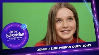 Junior Eurovision Questions: What is your dream job besides singing?