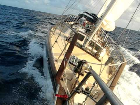 Sailing in the trades North of Hawaii