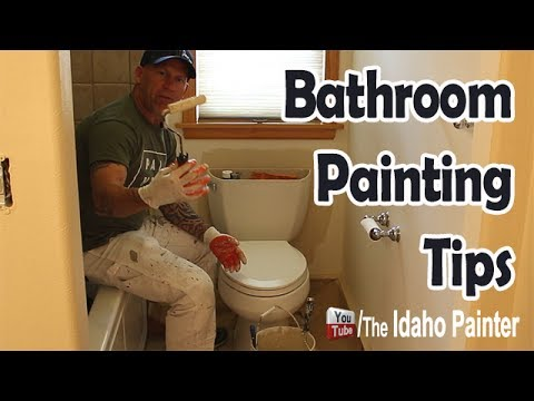 How To Paint Behind A Toilet Paint Behind A TV YouTube - Bathroom painting tips