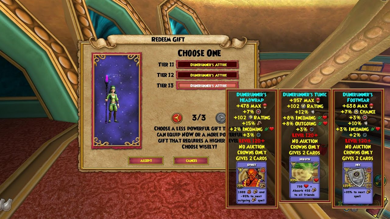 Wizard101 Mirage Raiders Bundle All Gear Wand Tiers