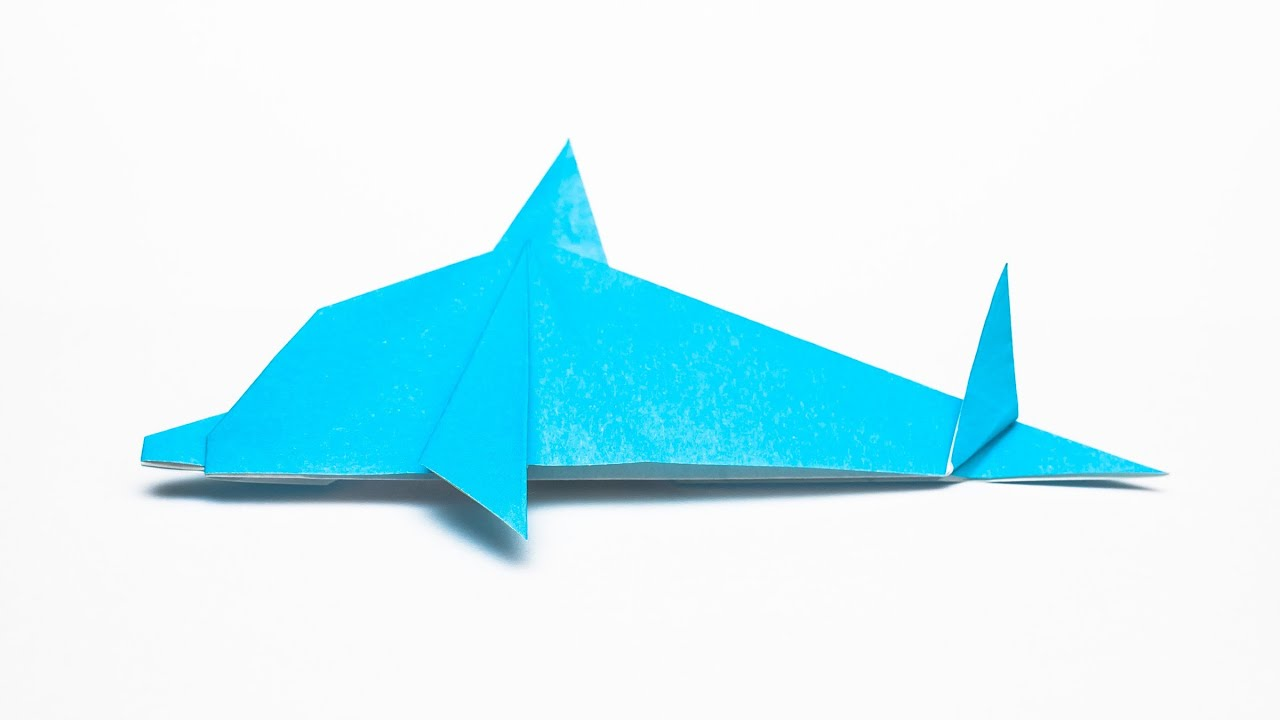 how to make an easy origami dolphin step by step youtube