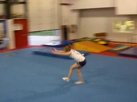 melissa lawrence doing a round off backhandspring backhandspring back tuck!