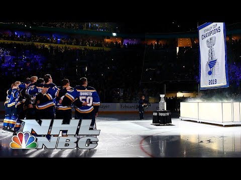 St. Louis Blues Raise Banner To Celebrate Stanley Cup Win | NHL | NBC Sports