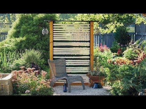 DIY Privacy Screen | Backyard Wooden Fence | Garden Gate Magazin