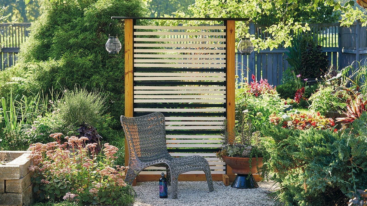 Diy Privacy Screen Backyard Wooden Fence Garden Gate Magazin