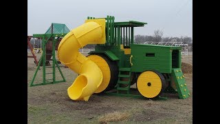 John Deere Tractor Playscape with Tube Slide thumbnail