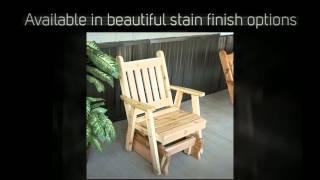 Al Furniture Co. Traditional English Red Cedar Gliding Chair