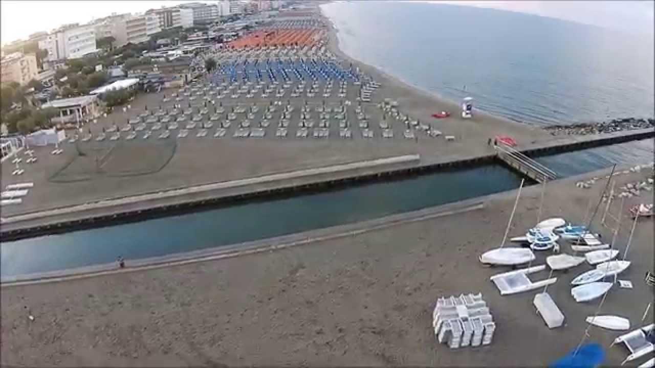 Milano marittima cervia ra spiaggia by drone youtube - Bagno dario milano marittima ...