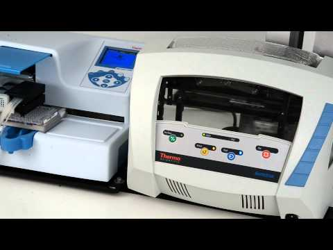 RapidStak microplate stacker and Multidrop Combi