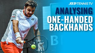 Analysing ATP Tennis Players' One-Handed Backhands!
