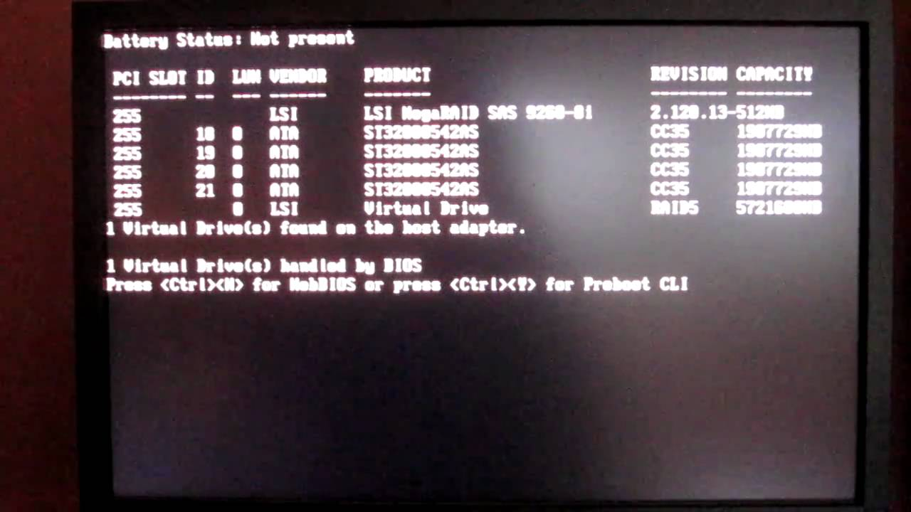 CDROM set as only boot device in the BIOS solves the WebBIOS