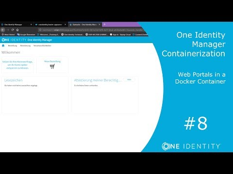 One Identity Manager | Containerization #8 | Web Portals in a Docker Container