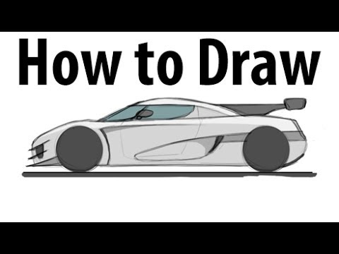 How To Draw A Koenigsegg One 1 Sketch It Quick Youtube