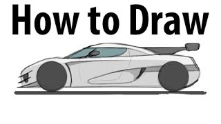 How to draw a Koenigsegg One:1 - Sketch it quick!