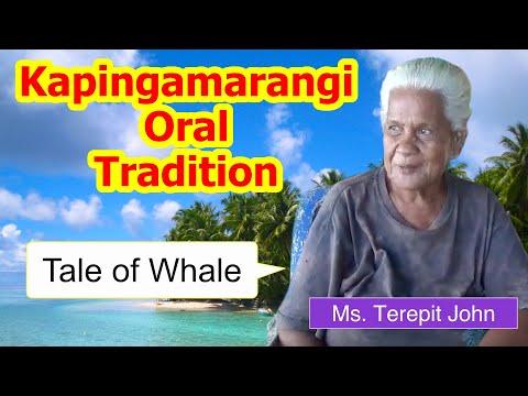 Tale of whale, Kapingamarangi Atoll