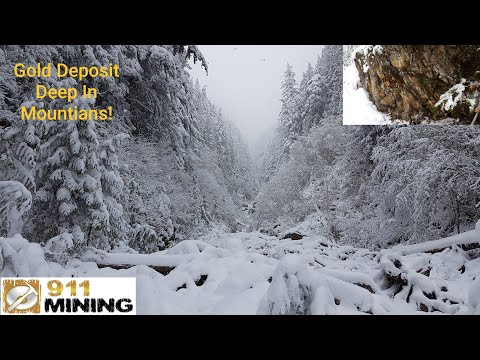 Prospecting & Sampling For Free Gold Deep In The Mountians
