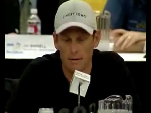 Lance Armstrong pissed off at pressconferanse