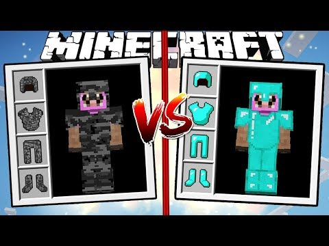 BEDROCK ARMOR vs DIAMOND ARMOR | Minecraft